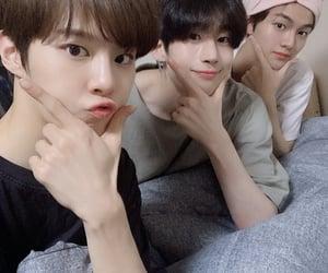 x1, kim wooseok, and lee eunsang image