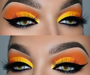 yellow and makeup image