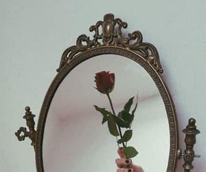 mirror, vintage, and flowers image