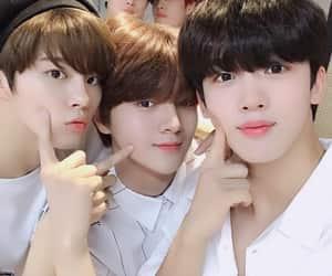 junho, wooseok, and hangyul image