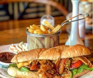 burger, fast food, and food image