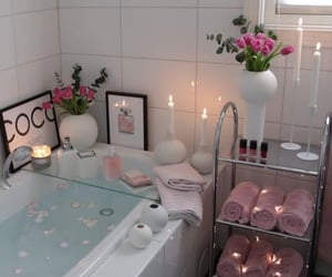 bathtub, inspiration, and candles image