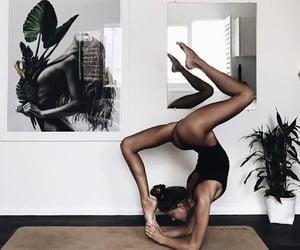 yoga, girl, and fitness image