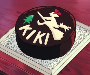 kiki's delivery service, anime, and cake image