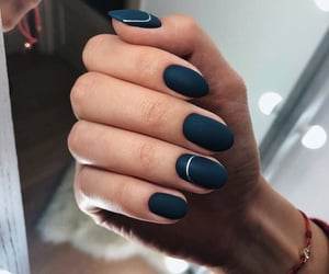 black, matte, and nail polish image