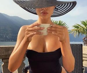 coffee, beach, and lips image