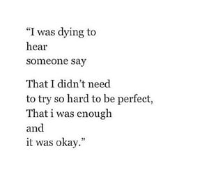 quotes, perfect, and sad image