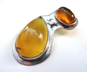 etsy, baltic amber, and gemstone pendant image