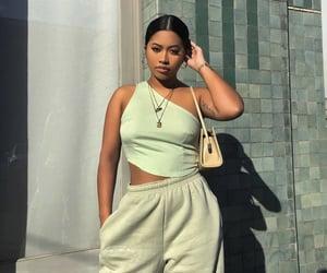 fashion, girls, and green image