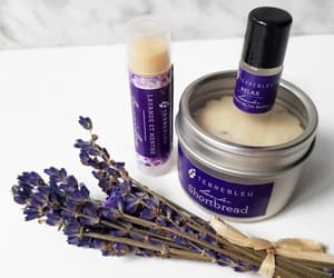 lavender, lip balm, and calming image