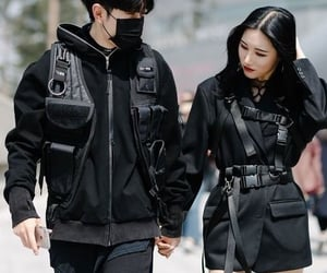 couple, style, and black image