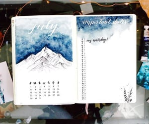 bullet journal, art, and journal image