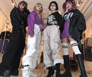 asian, crews, and girl image