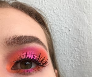 colorful, eye, and green eyes image