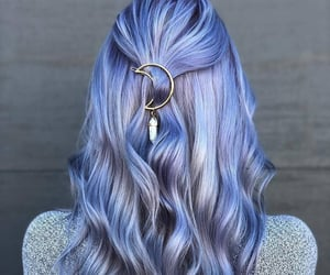 cabelo, colored hair, and hair image