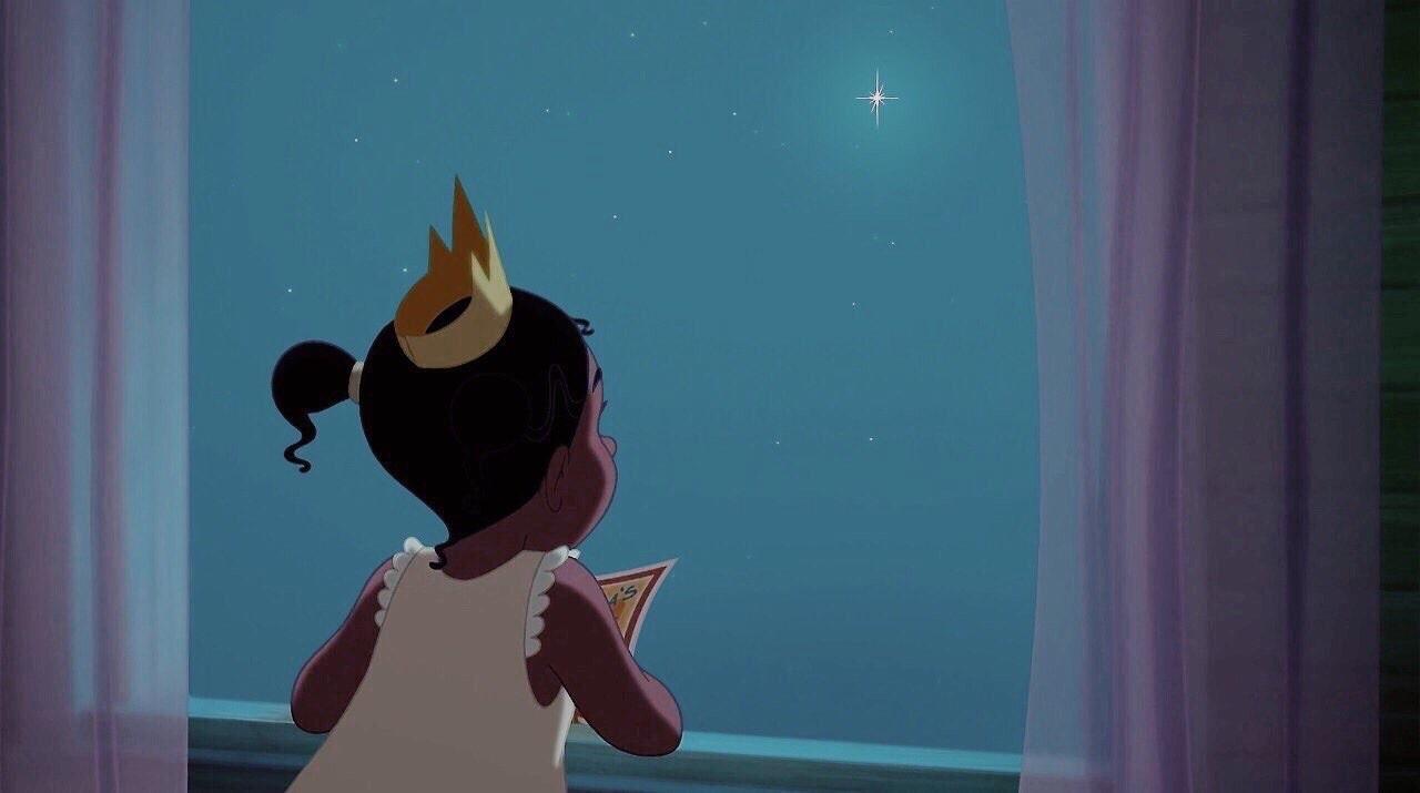 disney, tiana, and stars image
