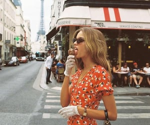 fashion, girl, and ice cream image