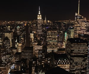 night and nyc image