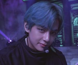 blue hair, edit, and idols image
