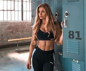 girl, gym, and workout image