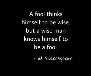 fool, quote, and shakespeare image
