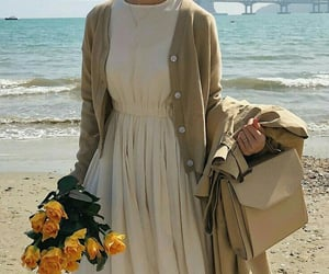 style, flowers, and outfit image