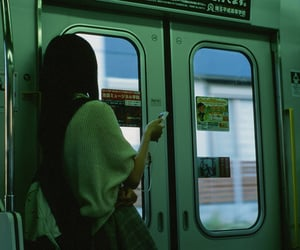 girl, green, and aesthetic image