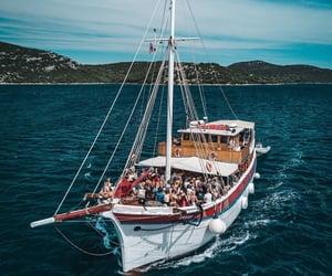 blue, boat, and Croatia image