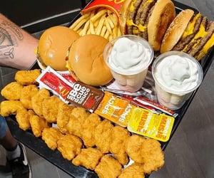 food, burger, and nuggets image