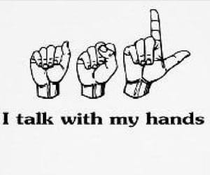 hands, mute, and sign language image