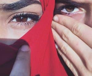 eyes, muslim, and hijab image
