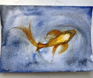 art, ocean, and watercolour image