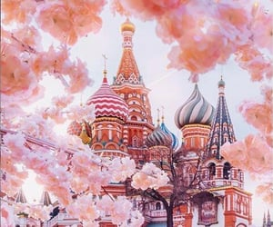 travel, russia, and pink image