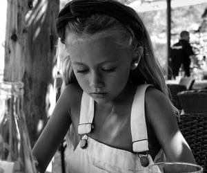 black and white, child, and b&w image