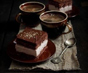 cake, chocolate, and turkish coffee image
