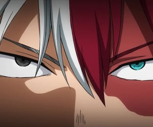 anime, myheroacademia, and todoroki image