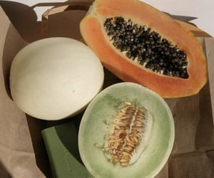 fruit, melon, and summer image