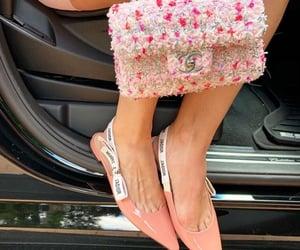 chanel, heels, and pink heels image