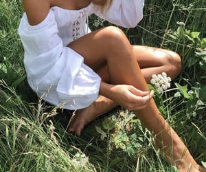 girl, nature, and green aesthetics image