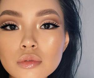 makeup, girl, and lips image