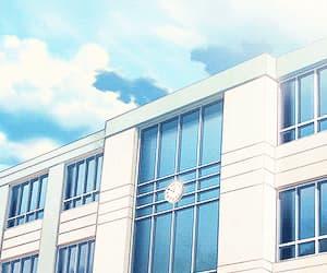 school, anime, and gif image