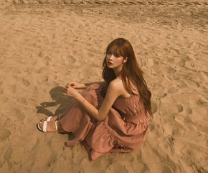 girl, ulzzang, and beach image
