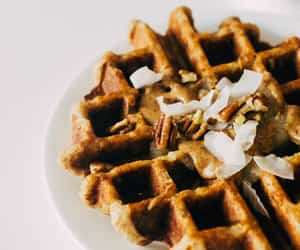 breakfast, food, and waffle image