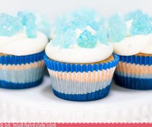 blue, cupcake, and food image