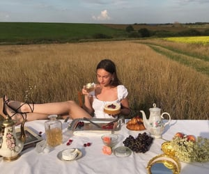 food, girl, and nature image
