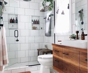 bath, bathroom, and design image