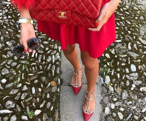 chanel, dress, and red image