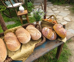 bread, loaf, and cottagecore image