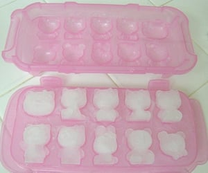 pink, hello kitty, and ice image