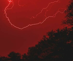 lightening, red, and weather image